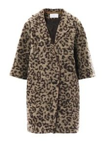 Thakoon Addition Thakoon Addition Leopard Knit Coat