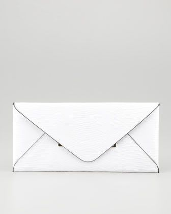 BCBGMAXAZRIA  Lizard-Embossed Envelope Clutch