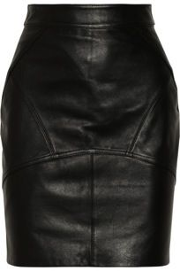 Alexander Wang  Stretch-Leather Pencil Skirt