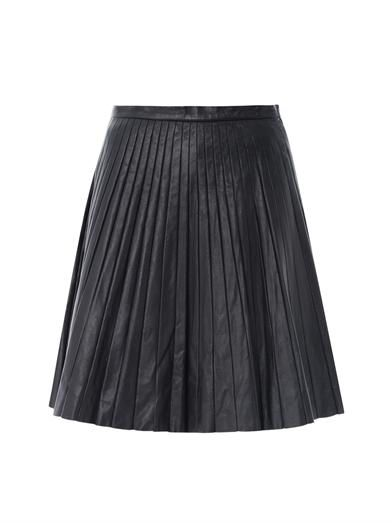 Theory  Theory Pleated Leather Skirt