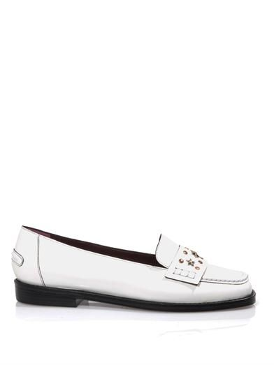 Opening Ceremony  Opening Ceremony Stud Embellished Leather Loafers