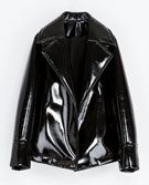 Zara  Zara Synthetic Patent Leather Studio Jacket
