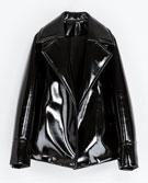 Zara  Zara Synthetic Patent Leather Studio Jacket