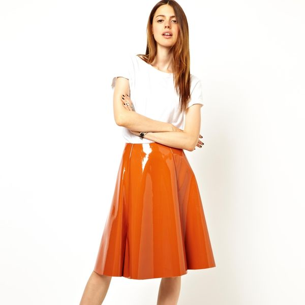 Asos  Asos Full Midi Skirt in Patent