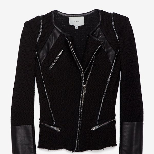 Iro Patent Leather Trim Jacket  Iro Patent Leather Trim Jacket