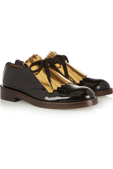 Marni   Marni Fringed Patent Leather Brogues