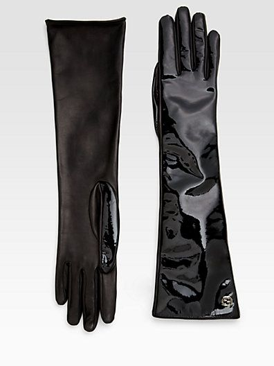 Gucci  Gucci Patent Leather Gloves