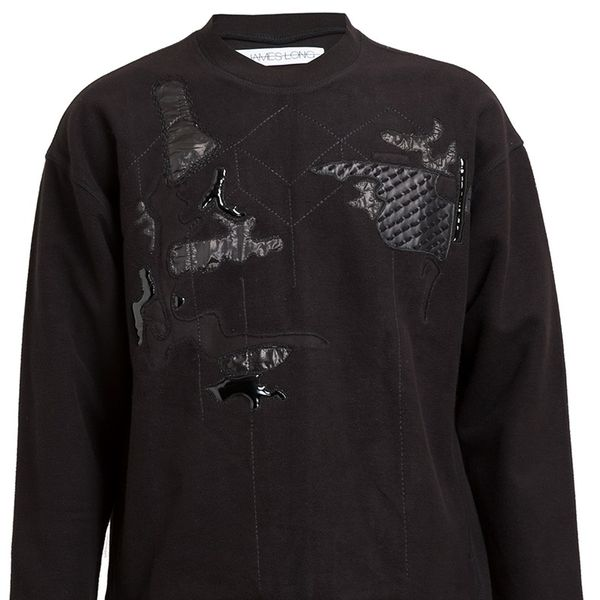 James Long  James Long Abstract Applique Fleece Cotton Sweatshirt