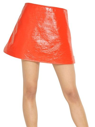 Courreges   Courreges Vinyl Mini Skirt