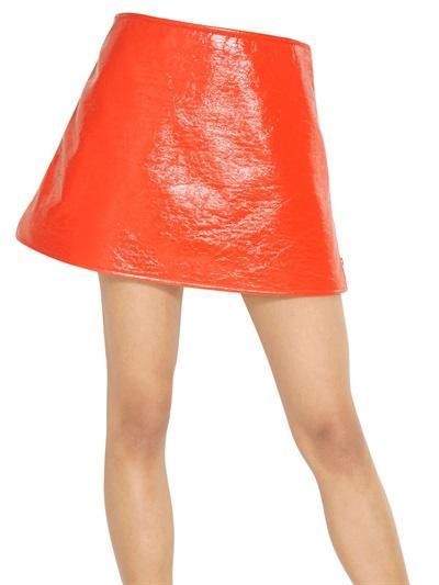 Courreges   Courreges Vinyl Mini Skirt