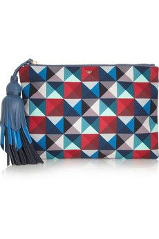 Anya Hindmarch  Courtney Printed Canvas Clutch