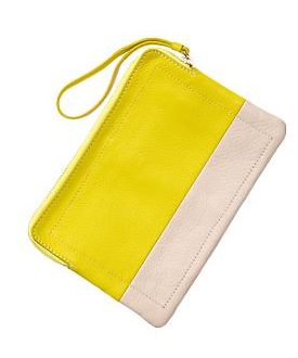 Gap  Two- Tone Leather Pouch