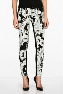 Paige Denim  Emily Needle Print Skinny Trousers