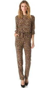 ONE by Amour Vert  ONE by Amour Vert Leopard Jumpsuit