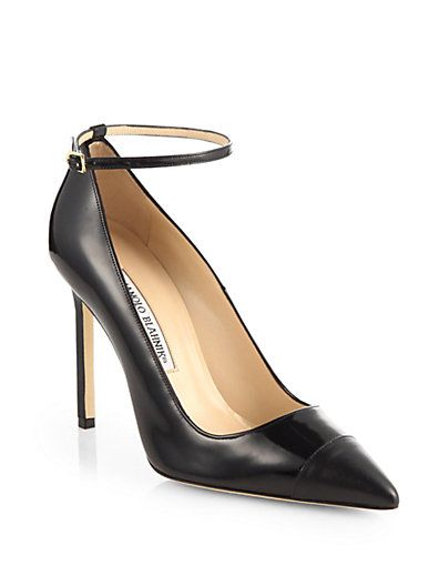 Manolo Blahnik  Manolo Blahnik BB Pumps With Ankle Strap