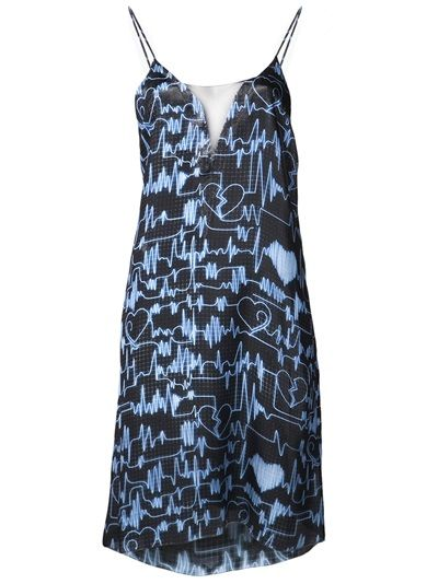 Jonathan Cohen  Slip Chiffon Dress