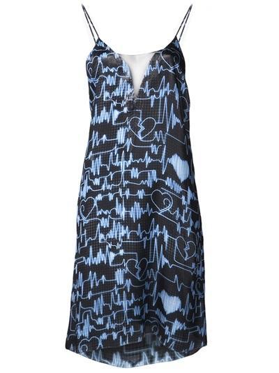 Jonathan Cohen  Slip Chiffon Dress