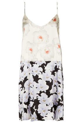 Topshop by Boutique  Floral Satin Slip Dress