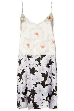 Topshop by Boutique  Floral Satin Slip Dress