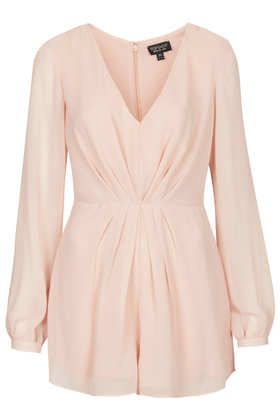 Topshop  Pleat Front Playsuit