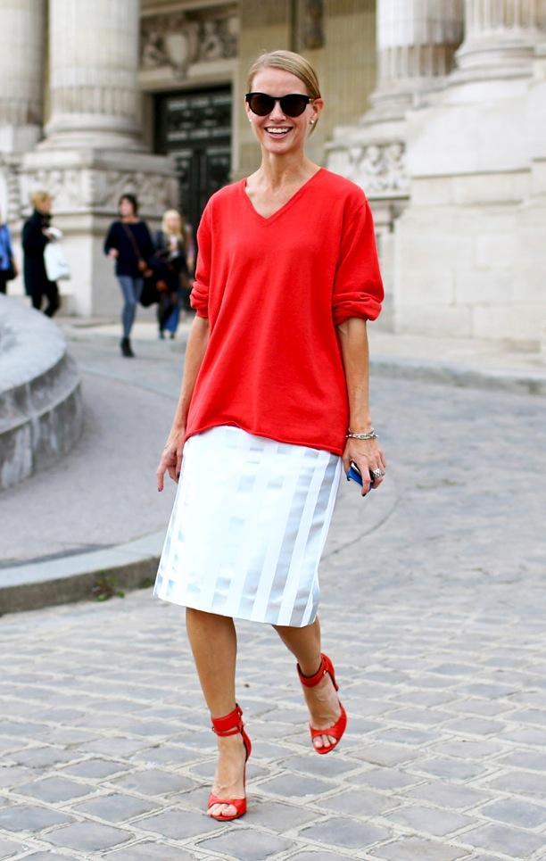PFW Street Style: Tomato Red