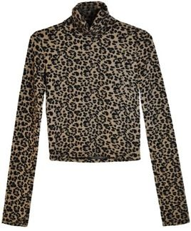 Wren  Wren Leopard Crop Turtleneck