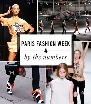 Paris Fashion Week By the Numbers
