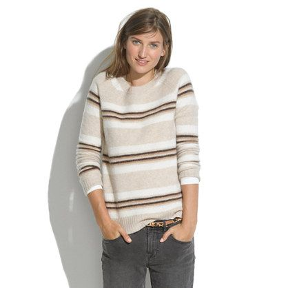 Madewell  Washed Striped Sweater