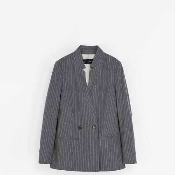 Zara  Long Pinstripe Blazer