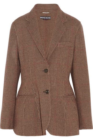 Rochas  Oversized Wool-Blend Tweed Blazer