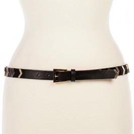 Linea Pelle  Linea Pelle Hayden Hip Belt With Chevron Studs