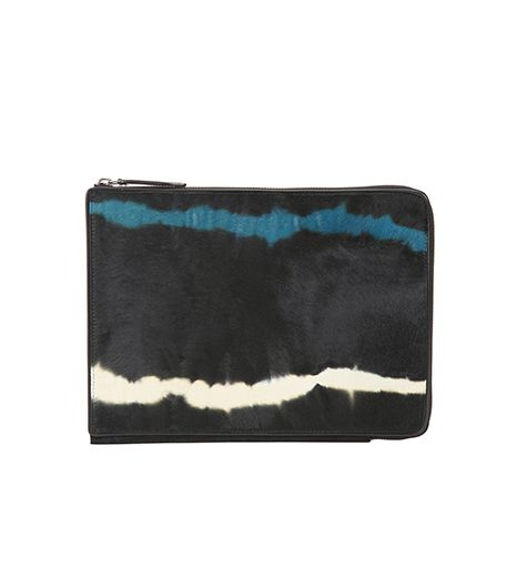 Dries Van Noten Tie-Dye Ponyhair Tablet Case