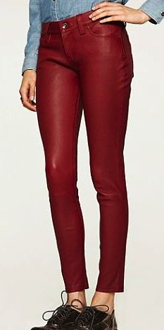 Lucky Brand  Leather Charlie Skinny Jeans