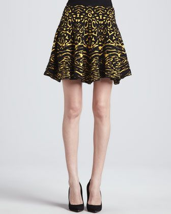 Torn by Ronny Ko   Torn by Ronny Ko Anabella Animal-Print Skirt