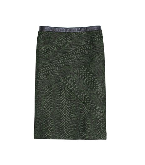 Tibi Cobra Jacquard Pencil Skirt