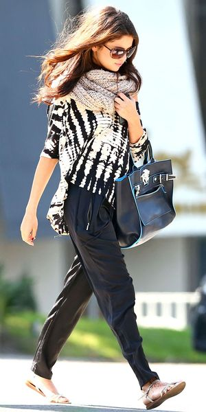 Check Out Selena Gomez's Stylish Take On The Tie-Dye Trend.