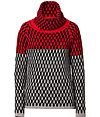 Dear Cashmere Dear Cashmere Wool Turtleneck Pullover ($295) in Red/Grey