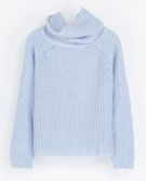 Zara   Zara Cowl Neck Rib-Knit Sweater