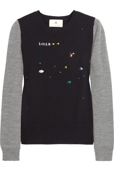 Boy. by Band of Outsiders  Boy. by Band of Outsiders Asteroids 7800 Intarsia Wool Sweater