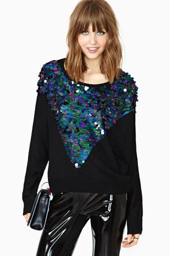 MinkPink  MinkPink Glam Rock Sequin Knit