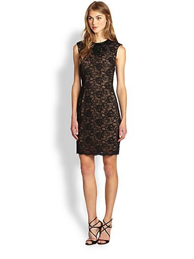 Haute Hippie  Embellished Lace Sheath Dress