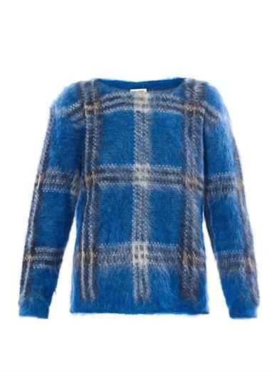 Saint Laurent Saint Laurent Tartan Mohair Sweater
