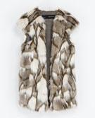 Zara Zara Long Fur Waistcoat