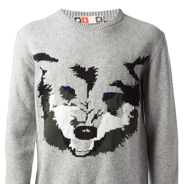 MSGM   MSGM Wolf Knit Sweater