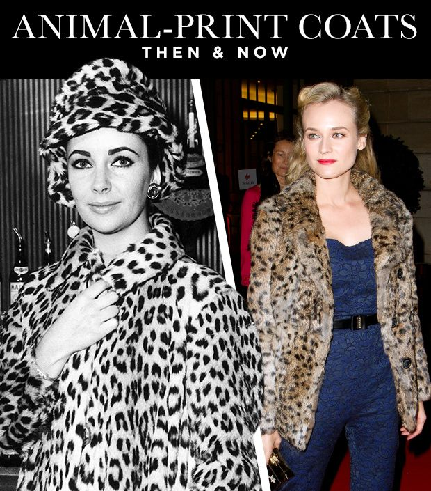 Animal-Print Coats Then & Now: From Elizabeth Taylor to Diane Kruger