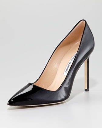 Manolo Blahnik BB Pearly Patent Pump