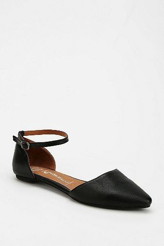 Jeffrey Cambell  Lovins Leather Ankle-Strap Flats