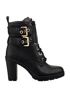 Guess  Guess Finlay Lace-Up Buckle Booties
