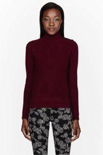 Marc by Marc Jacobs Marc by Marc Jacobs Red Cashmere Buttoned Martina Sweater