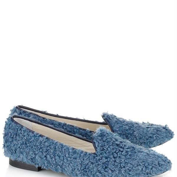Federica Moretti  Wool Shearling Loafers